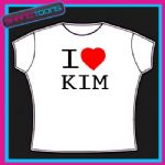I LOVE HEART KIM TSHIRT